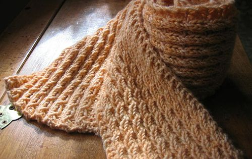 A Fast Knit Scarf. The Texture looks Cabled, but it isnt. Free,