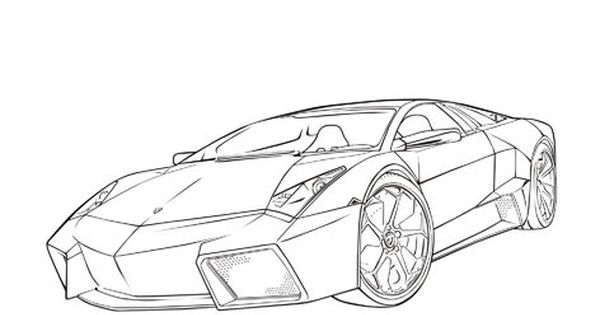 Lambhini Reventon Cars coloring pages Cars coloring
