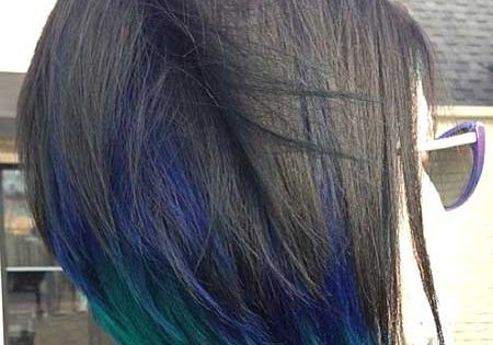 peekaboo colors and accents blue purple and turquoise :) great for black
