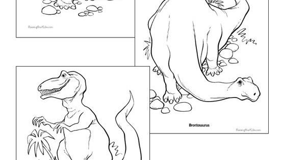 Dinosaur Coloring Pages 32 free sheets to print and