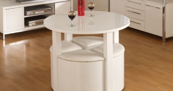 Charisma High Gloss Stowaway Round Dining Table Set amp 4  : 43669068d15b1b6c020460816af33683 from www.pinterest.com size 600 x 315 jpeg 19kB