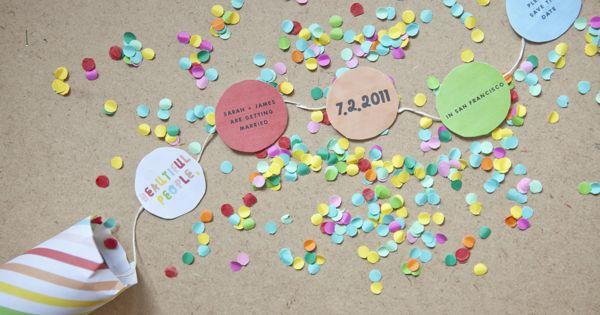 DIY party popper birthday invites