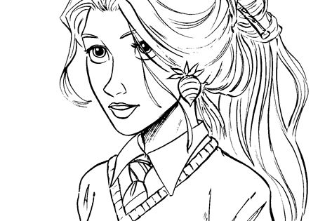 Luna reference harry potter and the board of pinterest for Luna lovegood coloring pages