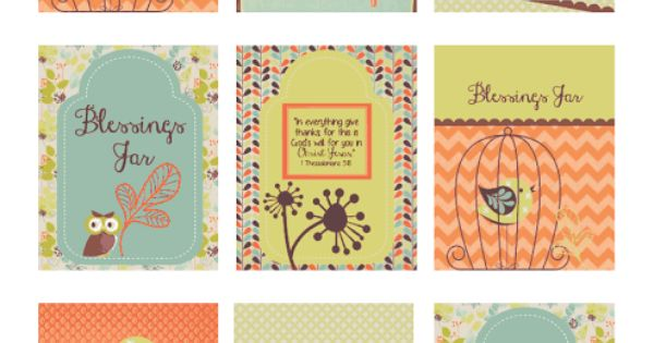 blessings jar  free tag printable