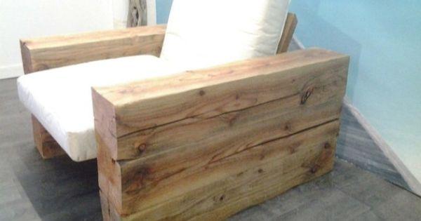 fauteuil poutre ch ne massif mobilier bois massif pinterest poutre chene chene massif et. Black Bedroom Furniture Sets. Home Design Ideas