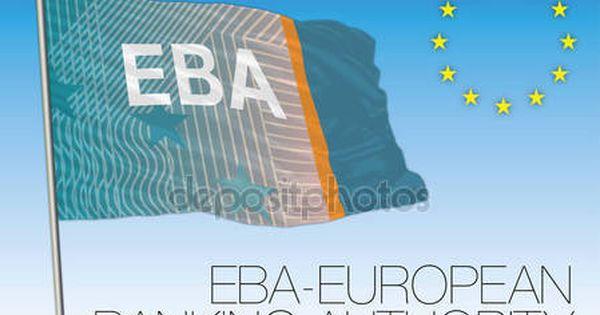 Bandiera Di Autorita Bancaria Europea Unione Europea Autori E