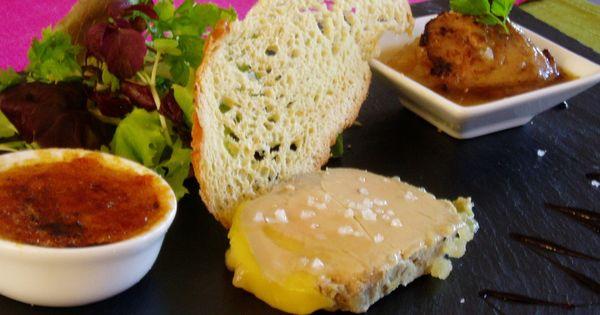 Foie gras three ways creme brule de foie gras foie gras for Chutney de pommes pour foie gras
