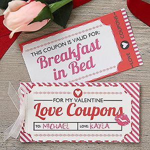 Love Coupons Personalized Coupon Booklet Love Coupons Romantic Gifts For Him Romantic Gifts