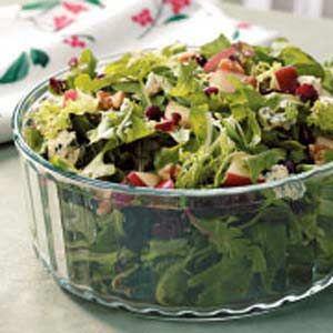 Contest Winning Holiday Tossed Salad Recipe Tossed Salad Salad Recipes For Parties Green Salad Recipes