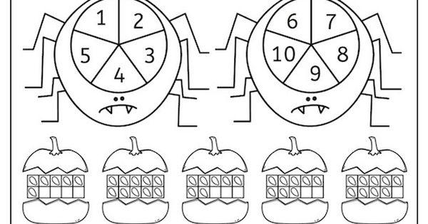 kreiselspiel zahl und menge halloween version kreiselspiel zahl menge vorschule. Black Bedroom Furniture Sets. Home Design Ideas