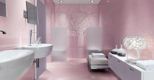 Carrelage de salle de bains original 90 photos for Carrelage salle de bain rose
