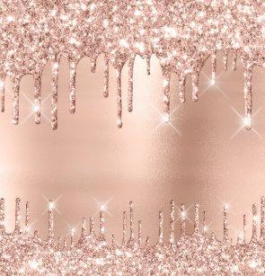 Rose Gold Dripping Circular Earrings