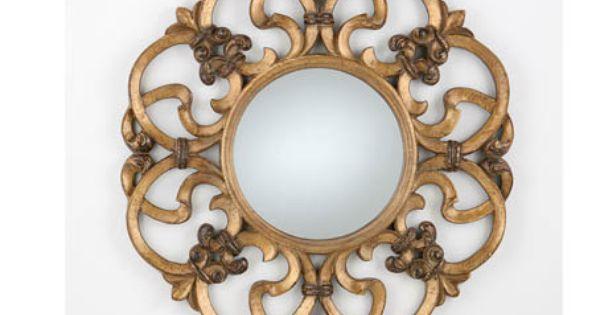 Espejo Talla Redondo Oro Viejo 80 Cm 162 211 Espejos De