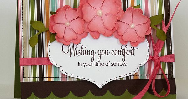 Sympathy card, love the colors