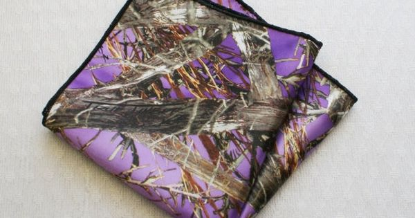 Camouflage Pocket Square Purple Camo Pocket Square By Idodoodads