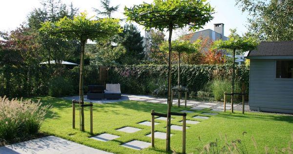 Strakke lounge tuin in badhoevedorp van veen tuinontwerpen tuin pinterest tuinontwerpen - Eigentijdse tuinfoto ...
