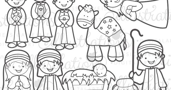 Christmas nativity stamps jw illustrations christmas for Jw coloring pages