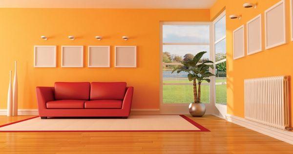 Orange living room designs orange rooms pinterest for Como combinar colores de pintura