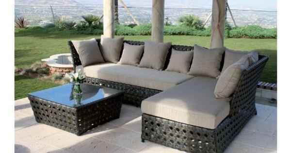 Mobiliario jard n en ratan de majestic garden mesa baja y for Ofertas mobiliario jardin