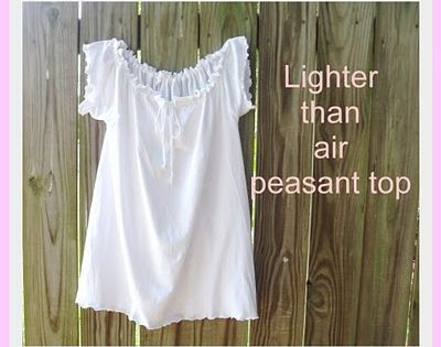 My Gramma Said: Tutorial: Lighter Than Air Peasant Top. Awesome tutorial for