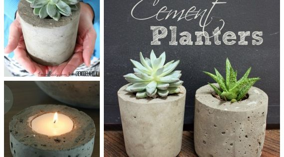 DIY: Cement Planters & Orbs - tutorials on how to make these