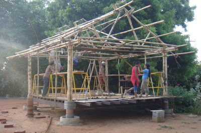 Auroville Earth Institute Bamboo House Design Bamboo House