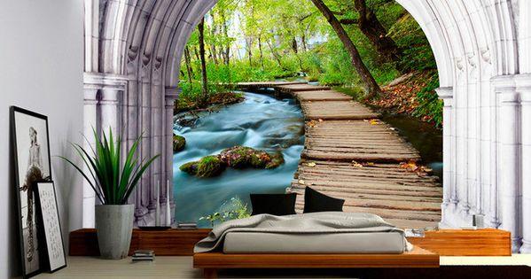 tapisserie paysage papier peint 3d personnalis dans la nature wallpaper 3d papier peint 3d. Black Bedroom Furniture Sets. Home Design Ideas