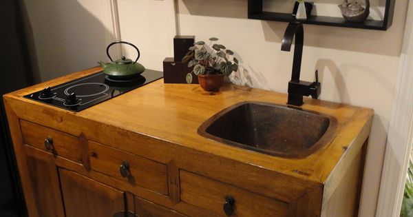 Mini kitchen unit by ron czecholinski built from some for Kitchenette furniture