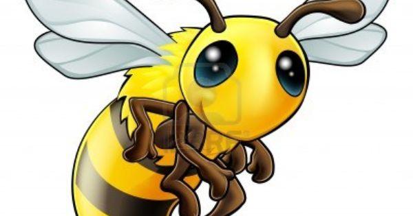 An Illustration Of A Cartoon Cute Bee Character Cartoon Bee Bee Illustration Bee Art