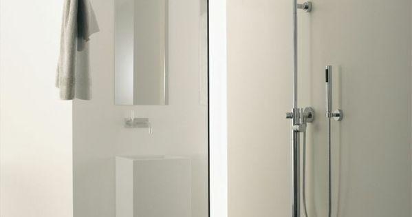 Minimalistische badgestaltung ideen ebenerdige dusche for Badgestaltung begehbare dusche