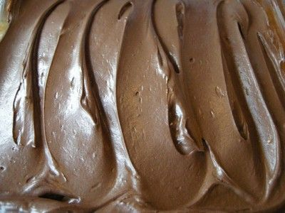 This frosting is absolutely exploding with chocolate. Its smooth, creamy, and causes