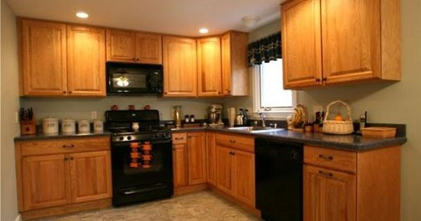Kitchen Colors That Go With Golden Oak Cabinets Google Search Modern Kitc