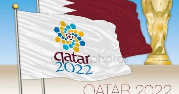 Qatar 2022 World Cup Logo In The Flag And Qatar Flag With World Cup World Cup Logo Flag World Cup