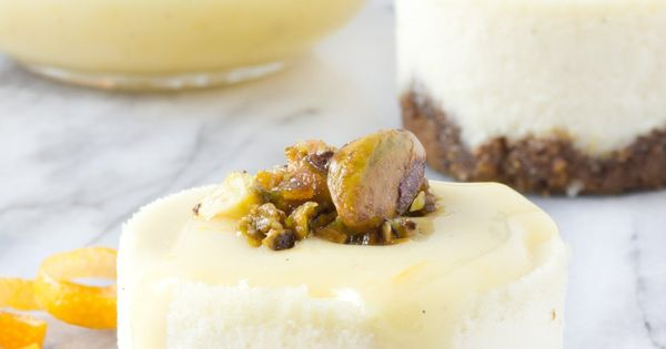 Recipe: Goat Cheese, Honey & Pistachio Mini Cheesecakes ...