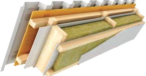 Termolife czech republic insulated roof detail mineral for Mineral wool batt insulation