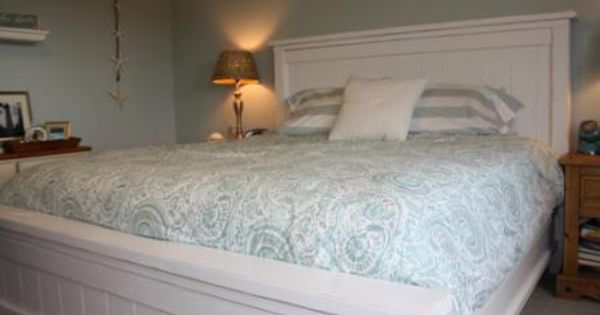 Headboard And Footboard Queen: Queen Size Headboard And Footboard In White..... Much