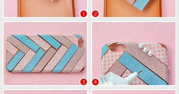 Tutorial on how to diy a fashion washi tape phone case for Washi tape phone case