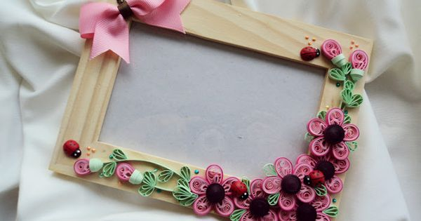quilled flowers photo frame | DIYs and Craft | Pinterest | Frames