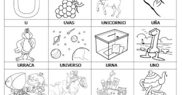 Dibujo De La Palabra Otoño Para Colorear Con Los Niños: Laminas Con Dibujos Para Aprender Palabras Y Colorear Con