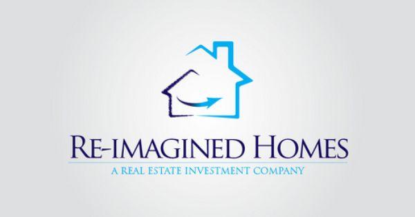 Check Out This Design For Re Imagined Homes By Mycroburst Com Diseno De Logotipos Logotipos Disenos De Unas