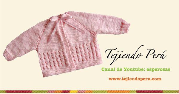 Dos agujas chaquetita para beb parte 1 manualidaded pinterest para beb s dos agujas y - Tejer chaqueta bebe 6 meses ...