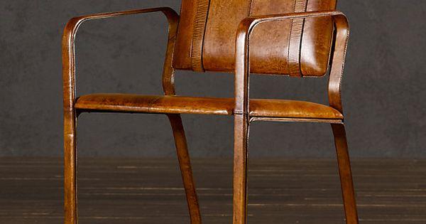 Restoration Hardware Buckle Chair Antique Chestnut Sit