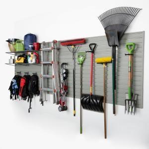 Flow Wall Modular Garage Wall Panel Storage Set With Accessories In Silver 15 Piece Fws 4812 12sb2 Garage Wall Organizer Diy Garage Storage Garage Walls
