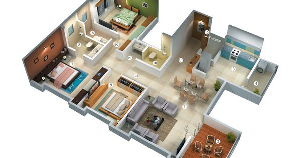 Amazing Home Layout Ideas.1 | Home And Design | Pinterest | Bedroom Floor Plans,  Bedrooms And House