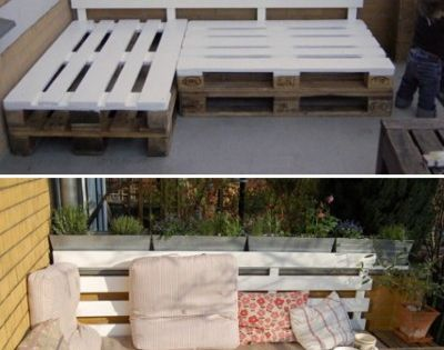 Easy pallet seating