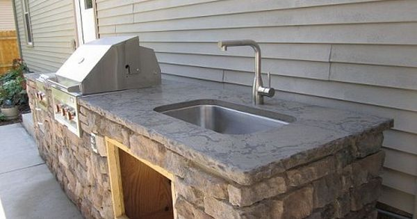 Three Outdoor Kitchens For Your House Too Outdoor Kitchen Outdoor Sinks Outdoor Kitchen Design