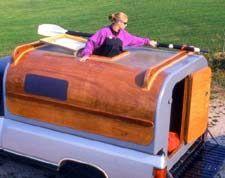 Home Built Camper From Plywood Pickup Camper Camper Slide In