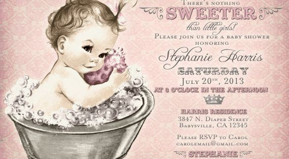 Custom baby shower invitations with a soft pink theme. DIY printable.