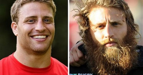 Rugby World Cup Canadian Flanker Adam Kleeberger To Lose Caveman Look And Shave Off Beard After Tournament Shaving Beard Beard Hipster Beard