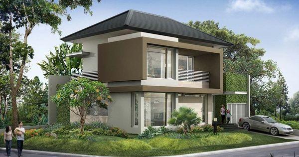 rumah minimalis modern asri home design pinterest